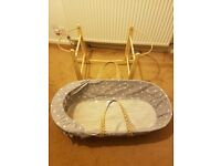 Moses basket. Used for 3 months from new