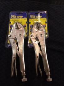 New Irwin Vise-grip. 10R straight jaw locking pliers. (Tools)