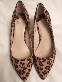 Leopard Print Stilletos by Faith Size 3/36