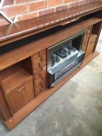 Mahogany surround and electric fire