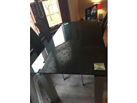 Great condition Dining table & 6 leather chairs cost 1700 to buy looking for 150 0no