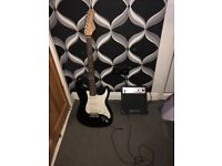 Elevation Electric Guitar, Amp and guitar bag for sale.