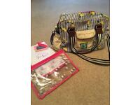 Pink lining yummy mummy change bag.