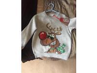 Next Boys Christmas sweatshirt BNWT