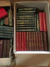 3 Boxes collectable vintage display books. Pub, folding, weddings,