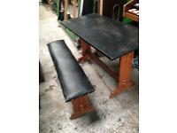 Dining table x2 benches