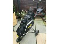 Powakaddy Cart Bag and Masters Push Trolley - Both Great Condition
