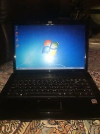 HP LAPTOP-WINDOWS 7- CORE 2 DUE-160GIG-PERFECT WORKING-OFFICE 2016-WIFI-DVD-FREE DELIVERY
