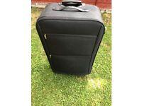 Soft Cover Suitcase Black 2 Wheels
