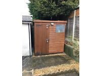 Used wooden shed - leaking roof