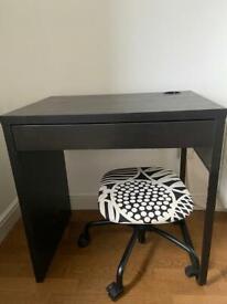 IKEA Black Micke Desk with drawer