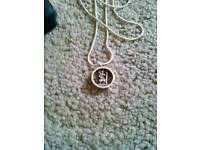 Silver St Christopher Pendant and 925 Silver Necklace. £5.00
