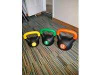 Kettlebells - 6kg 8kg and 10kg