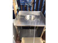 Stainless Steel Sink On Shelved legs for sale-Price-£60.00