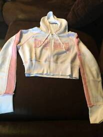 Lonsdale cropped zip up top size 10