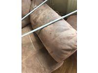 Reclining sofa and foot stool