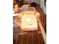 retro telephone cream