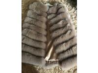 Brand new beige real fox fur women winter classy