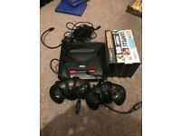 Sega mega drive 2 with two controllers 4 games