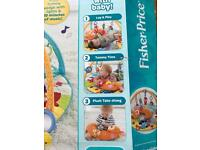 Fisher price woodland baby play mat tummy time music