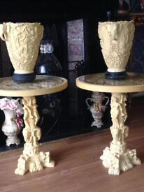 Vintage table and vase