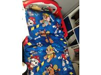Minnie Mouse and cars toddler beds