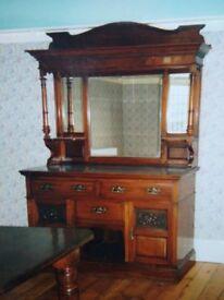 Victorian Mirrored Dresser/Sideboard