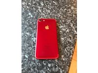 1 month old, red iPhone 7, unlocked 256gb