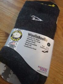 Winter Cycling Socks - Defeet woolie boolie Size Small - unwanted gift