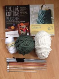 Knitting set with books