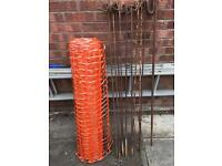 Orange Safety Protective Temporary Fencing