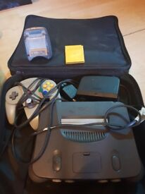 Nintendo 64 bundle all working as should slight damage to control plug on console dosnt effect use