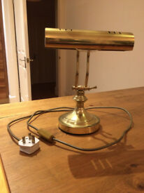 Brass reproduction antique-style desk lamp