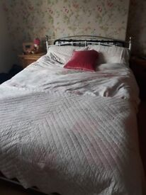 Double bed with kingsize mattress