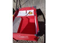 Baby play pen & changing bag - Manchester United design - Good Condition