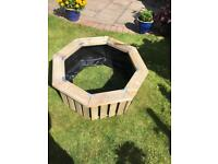 Octagon wooden planter