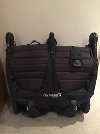 Babyjogger Citi Mini GT DOUBLE Pushchair in BLACK - Great Condition