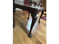 Lovely small side table with walnut veneer top