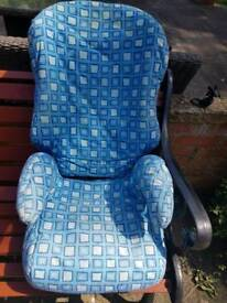 Child car booster seat.