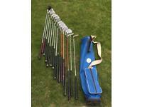 Vintage golf clubs set + Dunlop bag