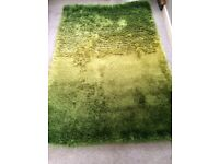 Stunning two tone green large rug used for a few weeks only cost £100