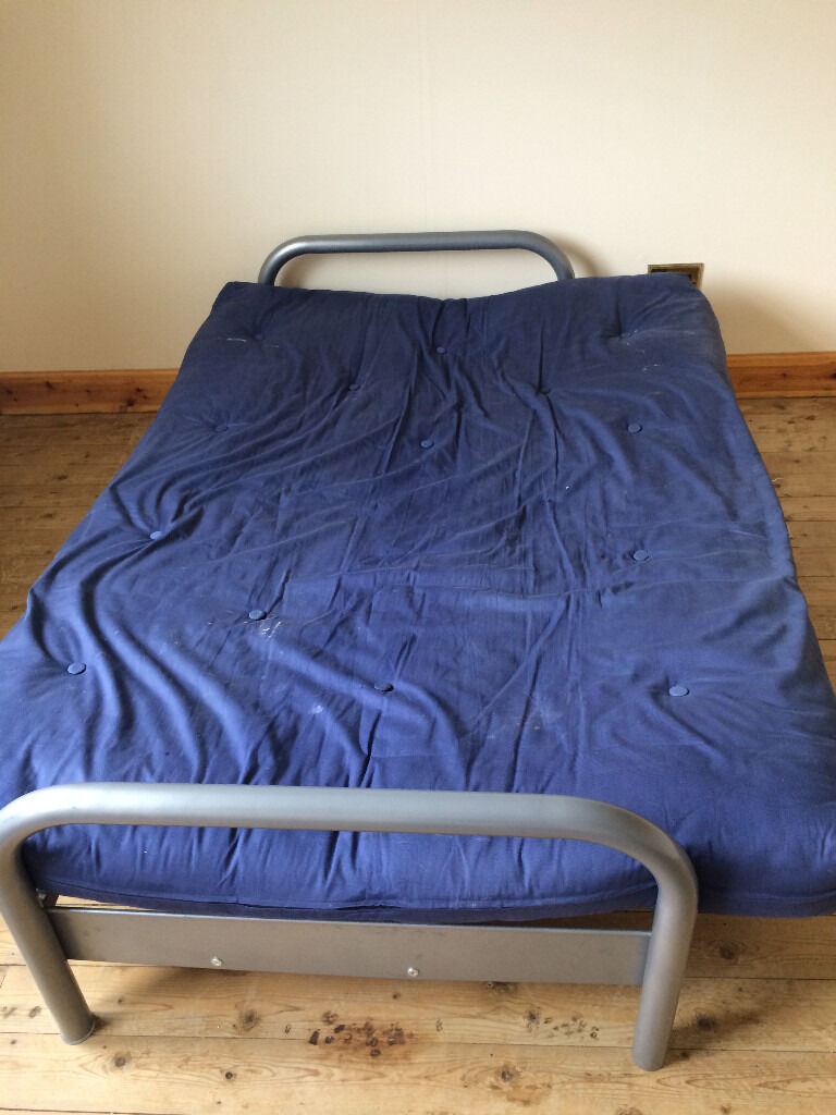 Bluse sofa bed in very good conditionin Fort Augustus, HighlandGumtree - Sofa bed for sale in very good condition as was barely used in spare room. Actually have 2 so can be sold separately or both together. Easy fold down from sofa to bed and the futon mattress is firm but comfortable please message for further details