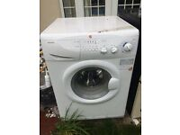 Unwanted washing machine,cooker