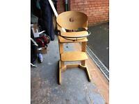Solid wooden high chair- bebe comfort