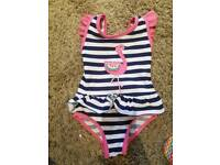Girls swimming bathing suit 9-12m