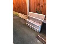 Concrete edging slabs