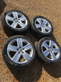 "Genuine VW Monte Carlo 17"" alloy Wheels good condition"