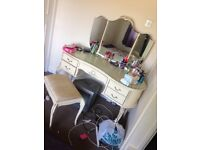 1960s French Montana dressing table and stool