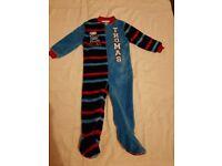 Boys thomas the tank onesie/pyjamas 1 & 1/2 - 2 years