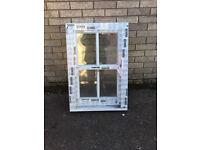 White in-line slider window